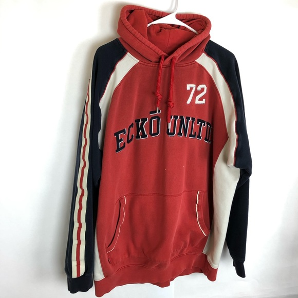 Ecko Unltd 72 Mens Hoodie Sweatshirt Embroidered
